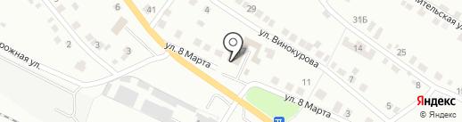 Луч на карте Миасса