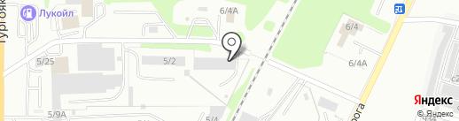 Уралстрой, ЗАО на карте Миасса