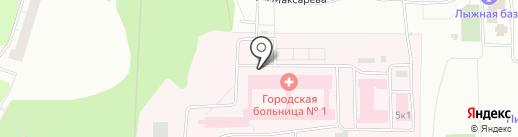 Городская больница №1 на карте Нижнего Тагила