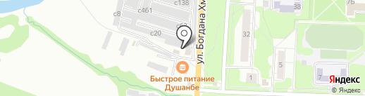 Магазин автозапчастей на карте Миасса