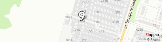 БОКС 808 на карте Миасса