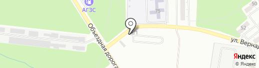 Автостоянка на проспекте Октября на карте Миасса