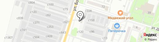 Магазин автотоваров для Волги, ГАЗ на карте Миасса