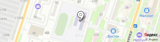 Средняя общеобразовательная школа №7 на карте Миасса