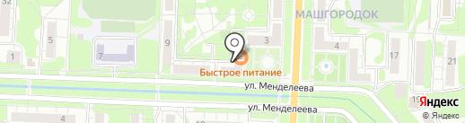 Магазин одноразовой посуды на карте Миасса