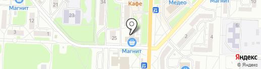 Магазин сувениров и посуды на карте Миасса