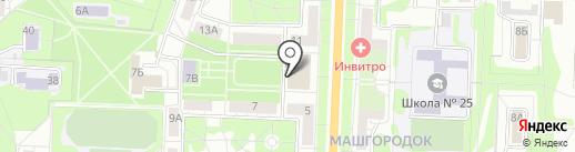 Дачи на карте Миасса