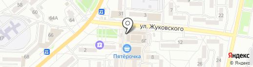 Жуковский на карте Миасса