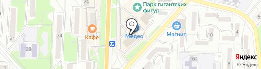 Салыков К.К. на карте Миасса