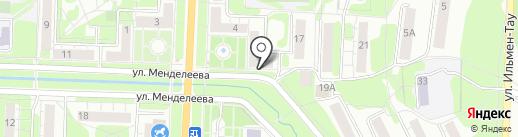 Ручеек на карте Миасса