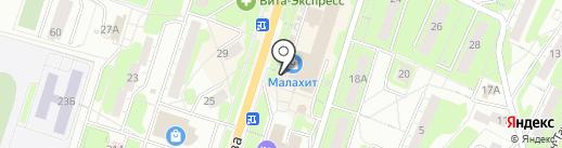 Видная дама на карте Миасса