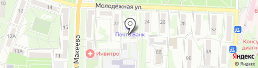 Банкомат, Уральский банк Сбербанка России на карте Миасса