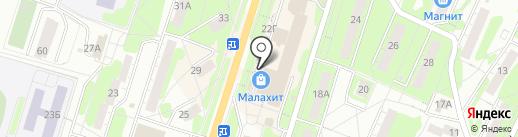 Алеанд на карте Миасса