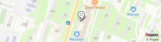 Русалка на карте Миасса