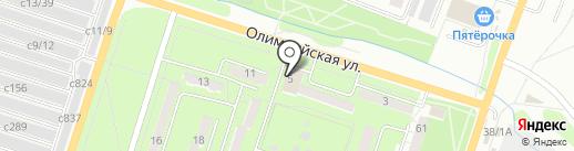 На Олимпийской на карте Миасса
