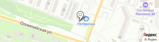 Мяснота на карте Миасса
