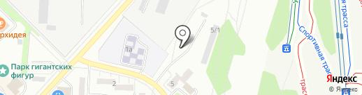 Автостоянка на ул. Вернадского на карте Миасса