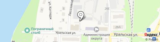 Киоск по ремонту обуви и изготовлению ключей на карте Среднеуральска