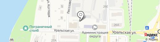 Птицефабрика Среднеуральская на карте Среднеуральска