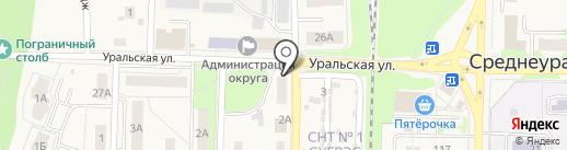 Военно-учетный стол Администрации городского округа г. Среднеуральска на карте Среднеуральска