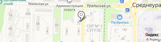 Единая Россия на карте Среднеуральска