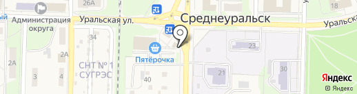 Мясная лавка на карте Среднеуральска