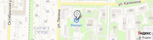 Магнит на карте Среднеуральска