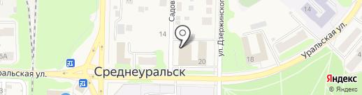 Русич на карте Среднеуральска