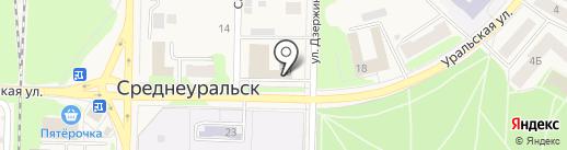 Городская баня на карте Среднеуральска
