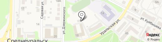 Исеть на карте Среднеуральска