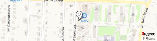 Ганина Яма на карте Среднеуральска