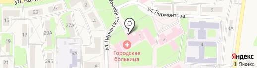 Верхнепышминская центральная городская больница на карте Среднеуральска
