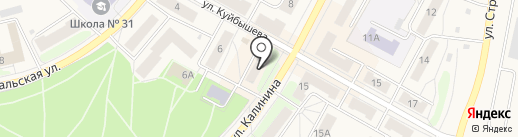 Бочка на карте Среднеуральска