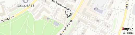 Витязь на карте Среднеуральска