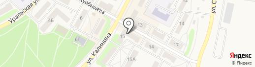 Платежный терминал, Уральский банк реконструкции и развития, ПАО на карте Среднеуральска