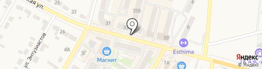 Киоск по продаже мясной продукции на карте Среднеуральска