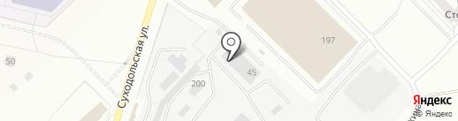 Brend на карте Екатеринбурга