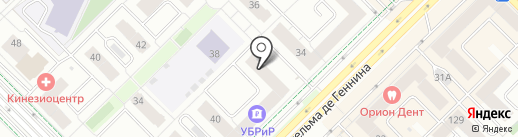Эврика на карте Екатеринбурга