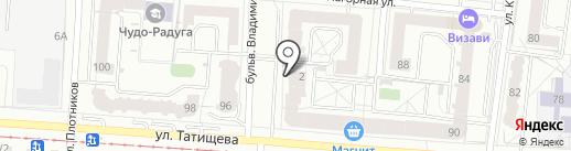 Правобережный, ЗАО на карте Екатеринбурга