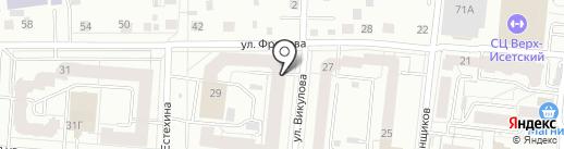 Пелагея на карте Екатеринбурга