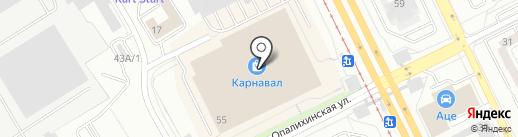 Санлайн на карте Екатеринбурга