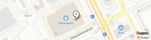 Лимонтир на карте Екатеринбурга