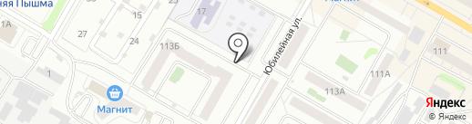 Магазин продуктов на карте Верхней Пышмы