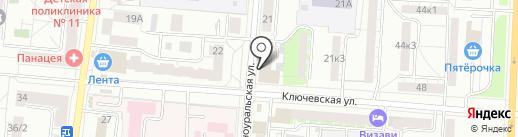 МИГАН на карте Екатеринбурга