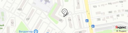 Автостоянка на ул. Уральских Рабочих на карте Верхней Пышмы