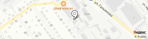Автосервис на карте Верхней Пышмы