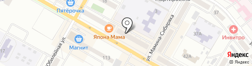 Адвокатский кабинет Безбородова Е.Ю. на карте Верхней Пышмы