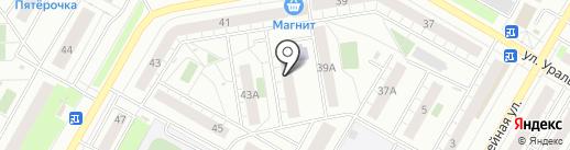 Центральная детская библиотека на карте Верхней Пышмы