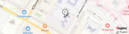 Детский сад №4 на карте Верхней Пышмы