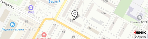 Салон бытовых услуг на карте Верхней Пышмы
